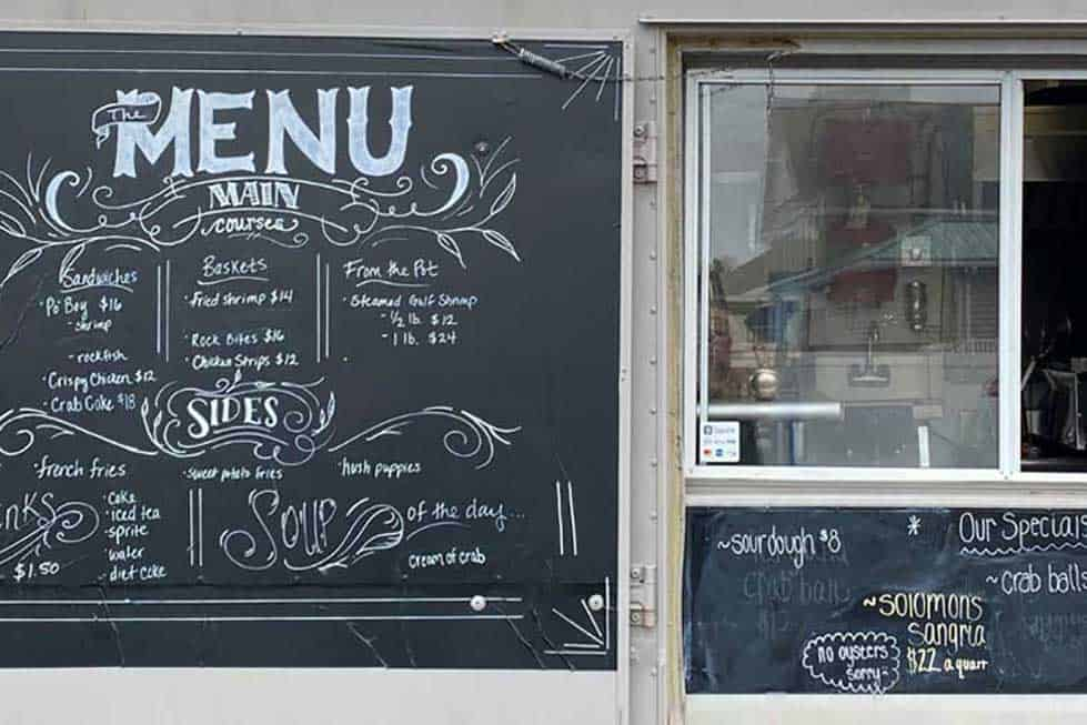 types of menus for food truck
